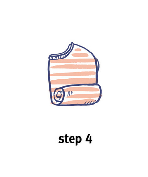 Illustration of how to roll a top, step 4