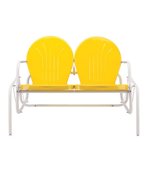 Bellaire Retro Metal Double Glider