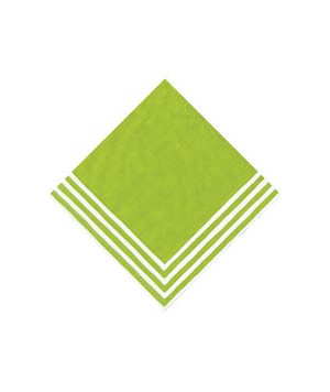 Green Stripe Border Paper Dinner Napkins