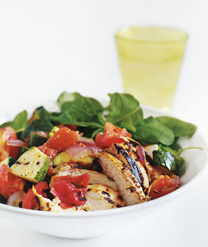 Grilled-Chicken Chopped Salad