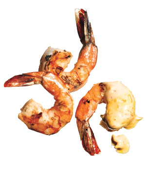Grilled Coriander Shrimp With Aïoli