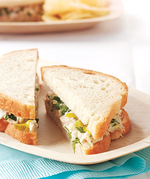 Pickled Tuna-Salad Sandwiches