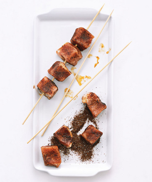 Chili-Rubbed Pork Kebabs With Pineapple Salsa