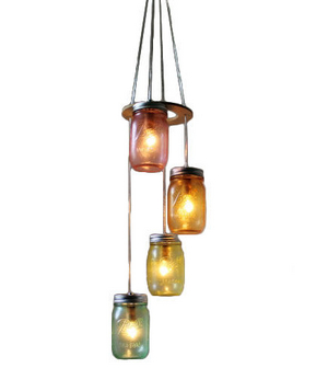 Over the Rainbow Mason Jar Chandelier