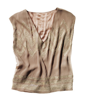 Antik Batik Beaded Viscose Top
