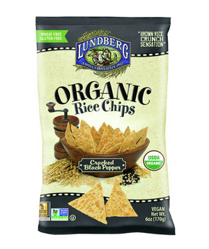 Lundberg Organic Rice Chips Cracked Black Pepper