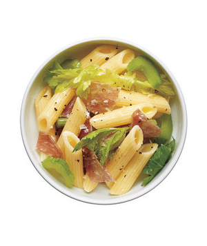Pasta Salad With Salami and Celery