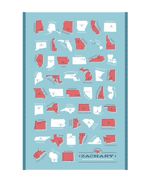States and Capitals print, Ann Gardner for Minted