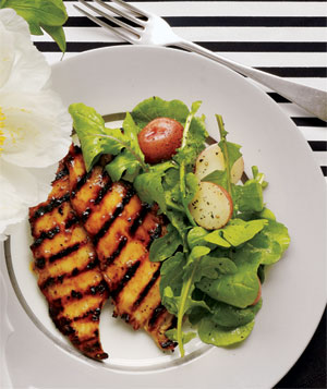 Marmalade Chicken With Arugula and Potato Salad