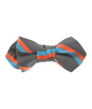 Boys' Double Stripe Bow Tie