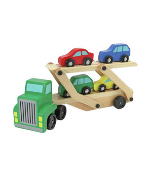 Car Carrier Cars Wooden Toy Set
