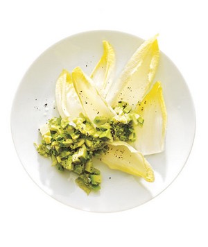 Lemony Avocado With Endive Dippers