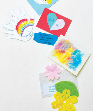 thank you cards made by children