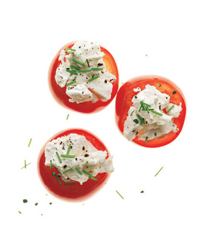 Cherry Tomatoes With Goat Cheese