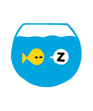 Illustration of a fish sleeping