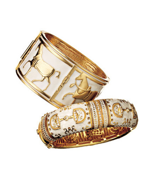 Lauren G. Adams Gold-Plated Enameled Bangle and Shop Suey Boutique Metal Bangle