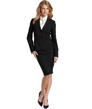 BOSS black Stretch-Wool Jacket and Skirt