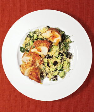 Spicy Orange Chicken With Cucumber Couscous