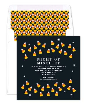 Candy Corn Invite