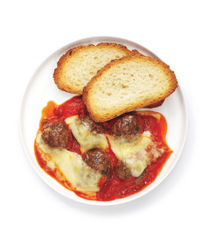 Cheesy Baked Meatballs