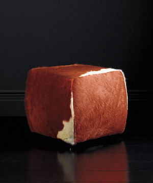 Lind Cowhide Ottoman