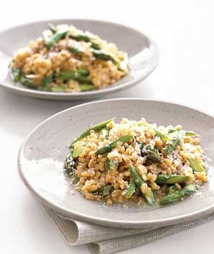 Barley Risotto With Asparagus and Parmesan