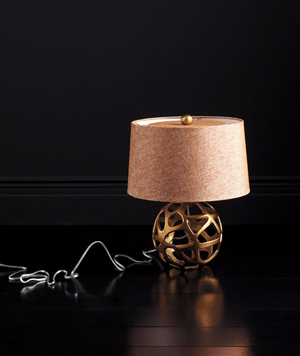 Ennis Antique Brass Web Sphere Lamp by Arteriors