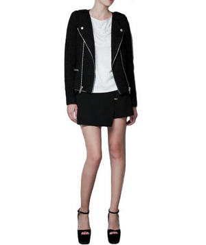 Zara Fantasy Fabric Jacket With Zips