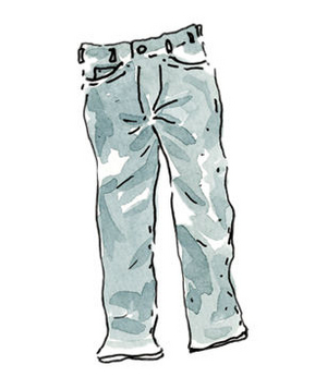Illustration of jeans