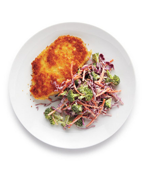 Crispy Chicken With Broccoli Coleslaw