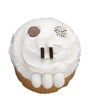 Toothy Skull Cupcake