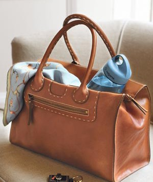 Handbag with water bottle