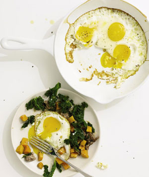 Sausage, Kale and Sweet Potato Hash