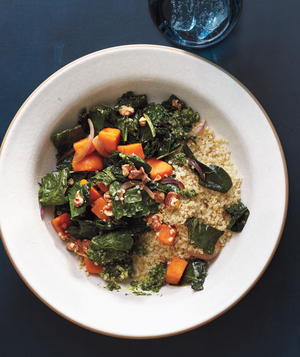 Tonight: Quinoa With Sweet Potatoes, Kale, and Pesto