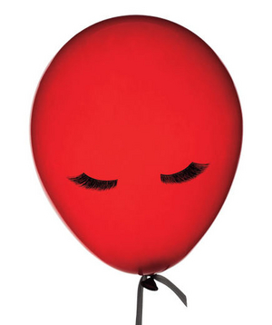 Red balloon with eyelashes