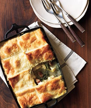Sausage, Cauliflower, and Kale Potpie