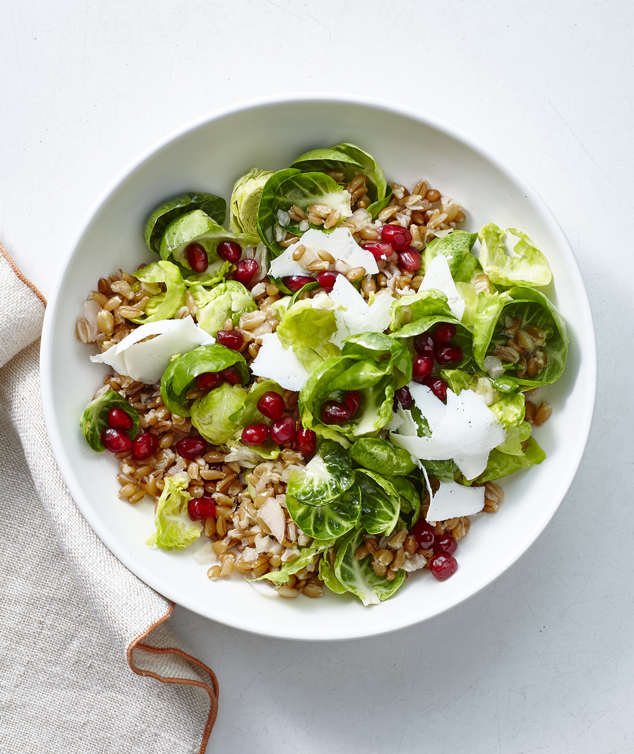 Farro and Brussels Sprouts Salad