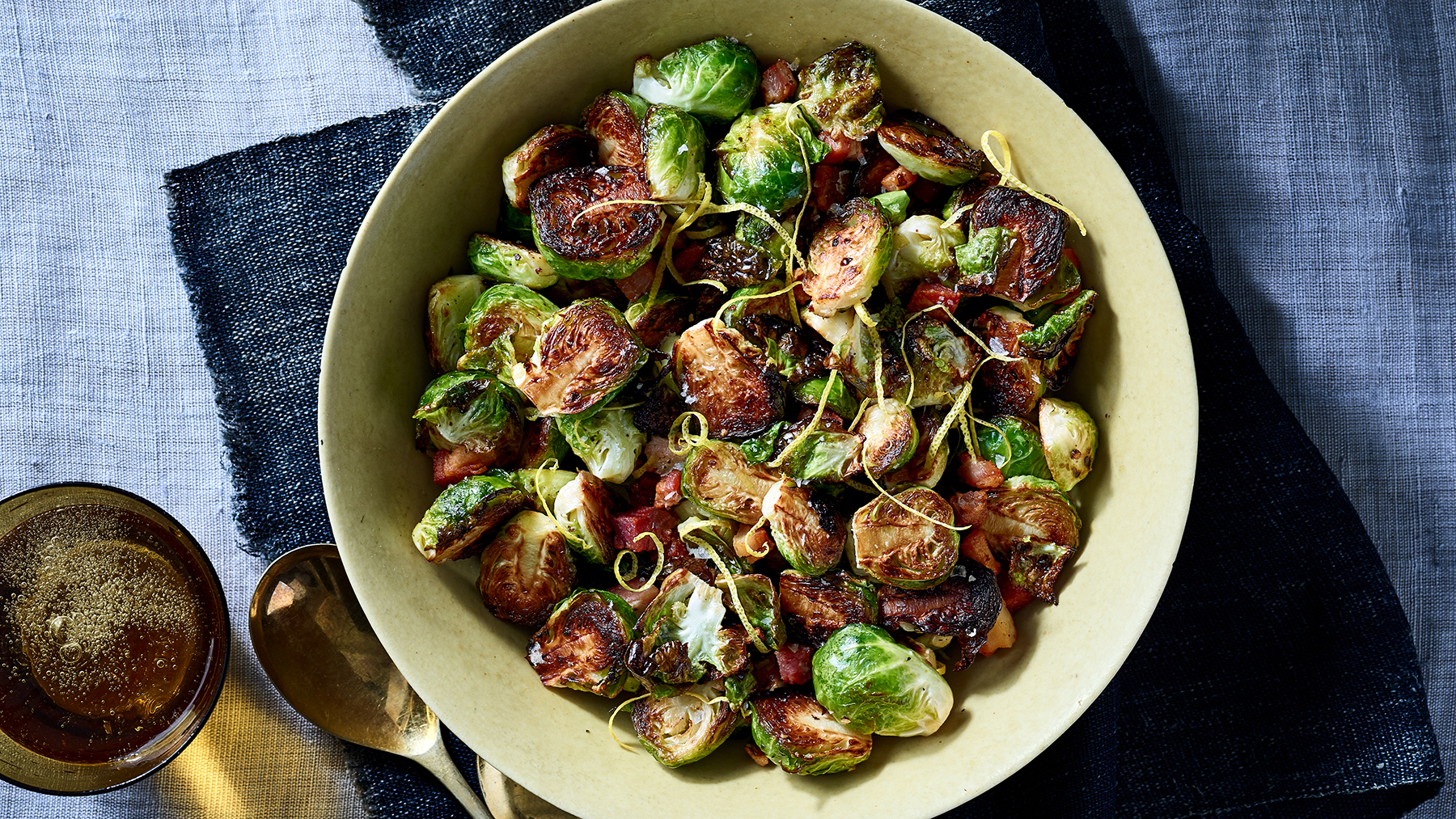 Crispy Brussels Sprouts With Pancetta and Lemon