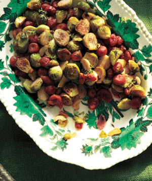 Roasted Brussel Sprouts Recipe and Grapes
