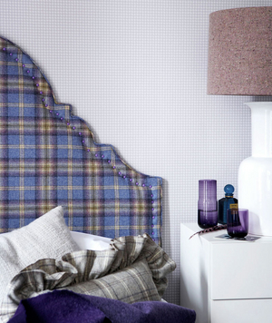 Plaid textured headboard