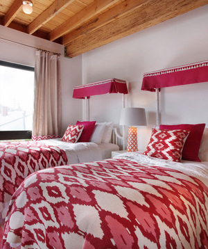 Bold red pattern bedding