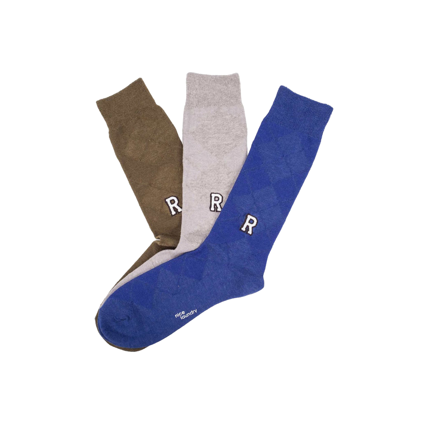 Monogram Sock Trio