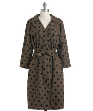Modcloth Dots a Wrap Coat