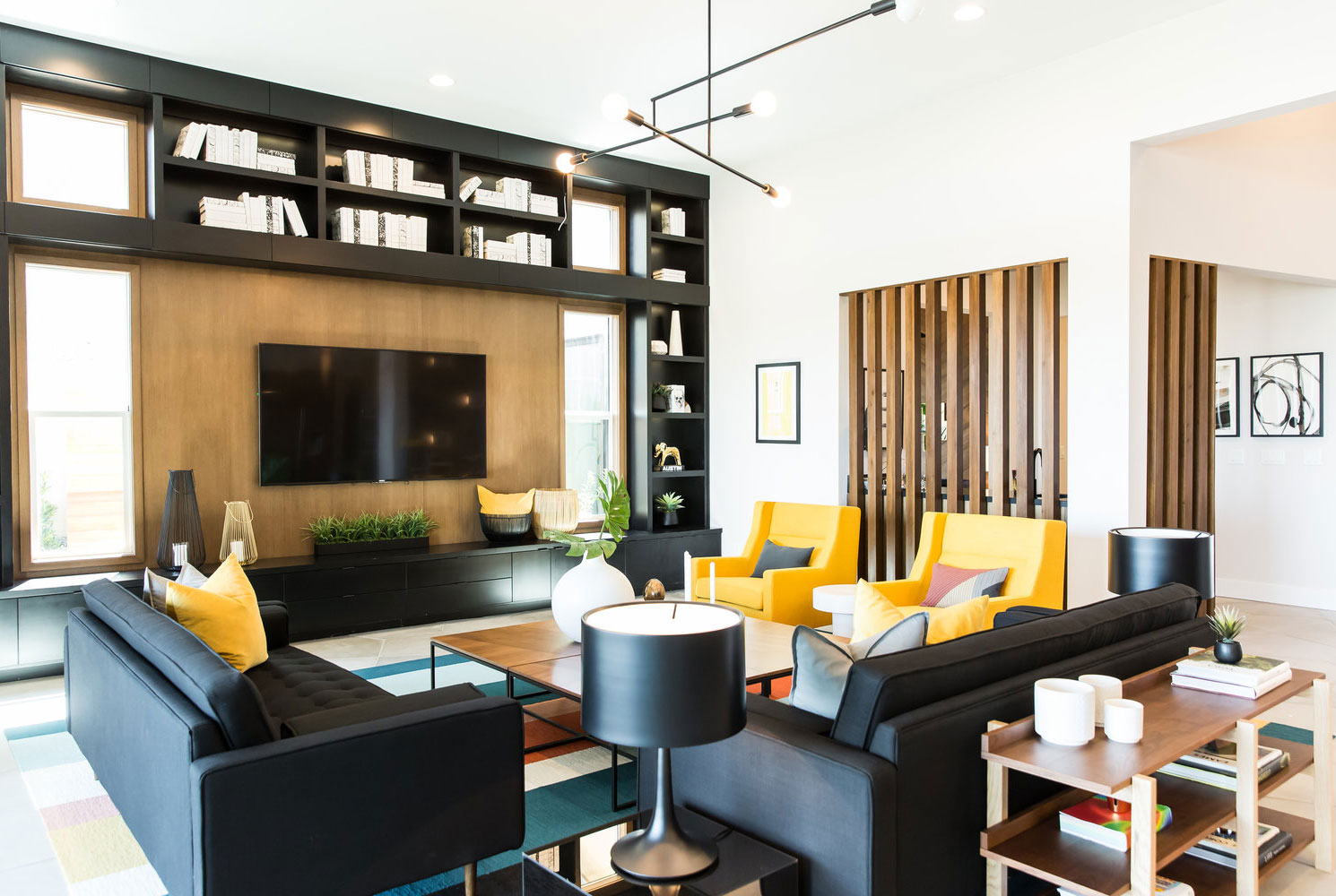 Wooden Living Room Accents