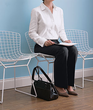 Woman in waiting-room