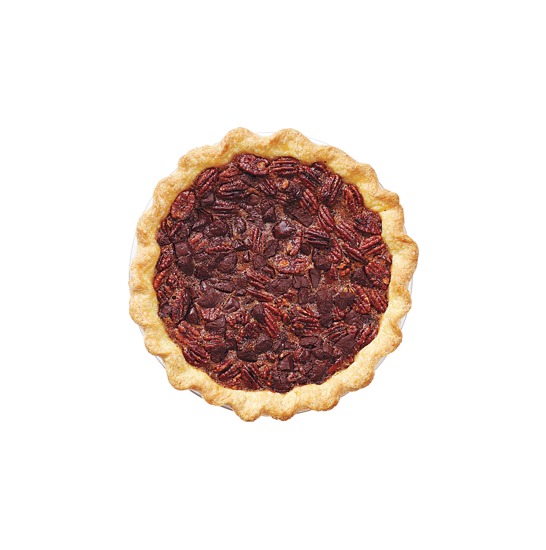 Chocolate-Whiskey Pecan Pie