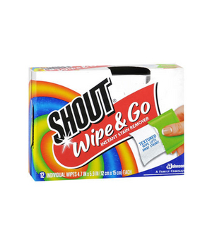 Shout Wipe & Go Instant-Stain-Remover Wipes