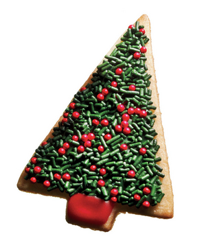 Evergreen tree cookie