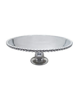 Cake Stand Round Beaded 13 Inch