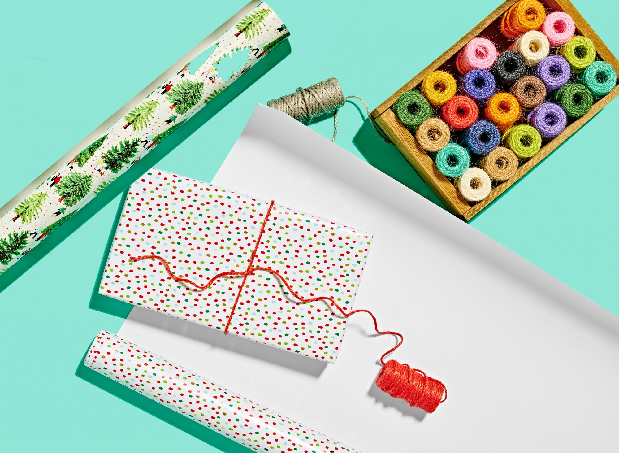 wrapping paper and gift wrap supplies